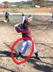 【小学4年生体験レッスン】バッティングで体が前に突っ込まないためには